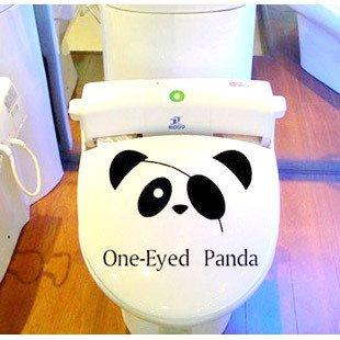 2pcs Panda Wall Sticker Art Toilet Bathroom Vinyl Deco B3
