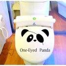 2pcs Panda Wall Sticker Art Toilet Bathroom Vinyl Deco B3