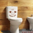 2pcs Happy Day  Wall Sticker Art Toilet Bathroom Vinyl Deco B2