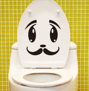 2pcs Whisker Face Wall Sticker Art Toilet Bathroom Vinyl Deco B5