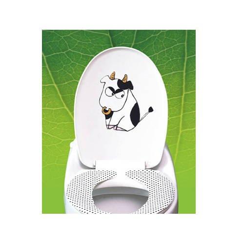 2pcs Cow Wall Sticker Art Toilet Bathroom Vinyl Deco A1