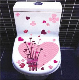 2pcs Love Wall Sticker Art Toilet Bathroom Vinyl Deco B6