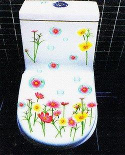 2pcs Flower Wall Sticker Art Toilet Bathroom Vinyl Deco B6