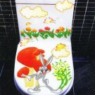 2pcs Rabbit Wall Sticker Art Toilet Bathroom Vinyl Deco B4