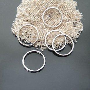 1000PCs Silver Tone Split Rings Key Rings Finding 27mm