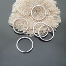 1000PCs Silver Tone Split Rings Key Rings Finding 27mm