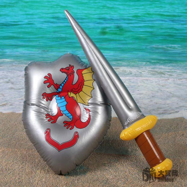 Inflatable Sword Shield Summer Swimming Swim Toy