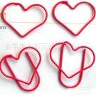Lot of 200pcs Paper Clip ❤ Heart  ❤ Shaped heart/Bookmark