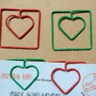 Lot of 200pcs Paper Clip ❤ Square Heart  ❤ Shaped heart/Bookmark