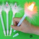 2pcs Rabbit Feather LED Light Ball Pen,Favours,ST037