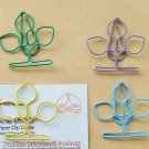 Lot of 200pcs Paper Clip 3 leave flover Shaped / Bookmark office