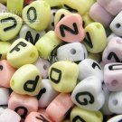 500g Assorted Acrylic Bead / Heart Beads Alphabet ABC Letter Charm 4 x 8mm/ jewelry accessory