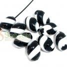 1000g Zebra Striped Candy Charm Beads 15mm