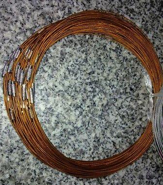 100pcs Orange Memory Steel Necklace Choker Cord Wire Diameter 13cm