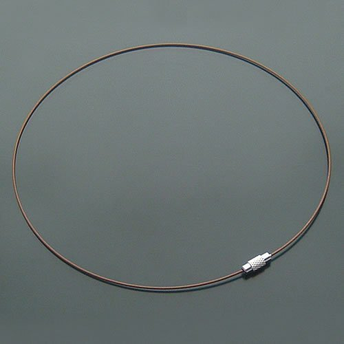 100pcs Brown Memory Steel Necklace Choker Cord Wire Diameter 13cm