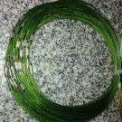 100pcs Green Memory Steel Necklace Choker Cord Wire Diameter 13cm