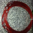 100pcs Red Memory Steel Necklace Choker Cord Wire Diameter 13cm