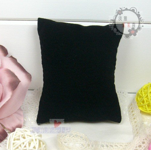 50pcs Jewelry Display Bracelet Anklet Watch Pillow Velvet Black