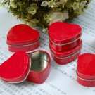 10pcs Jewelry Display Red Heart Love Tin Box Gift Box Case Office Organizer