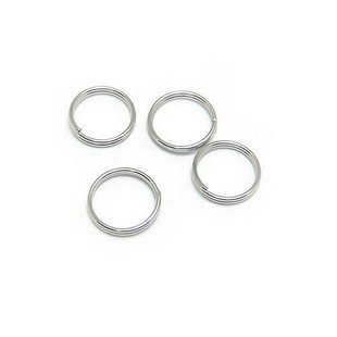 Lot of 500g Double Jump Ring 10mm Finding Accessory silver plated