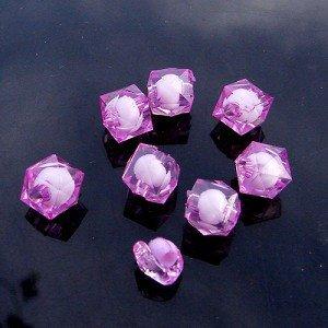 500g Acrylic Square Bead White Core Inside Dye / Craft  Jewelry accessory Lantern Purple