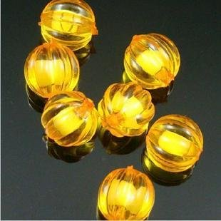 500g Acrylic Pumpkin Bead White Core Inside Dye / Craft  Jewelry accessory Lantern Orange