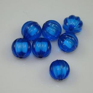 500g Acrylic Pumpkin Bead White Core Inside Dye / Craft  Jewelry accessory Lantern Blue