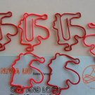 Lot of 200pcs Paper Clip Santa Claus Shaped / Bookmark office