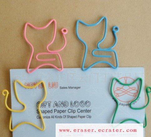 Lot of 200pcs Paper Clip Cat Shaped / Bookmark office