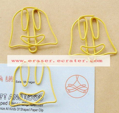 Lot of 200pcs Paper Clip Smile Shaped / Bookmark office B3