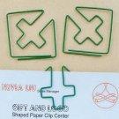 Lot of 200pcs Paper Clip Cross Shaped / Bookmark office B2