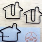Lot of 200pcs Paper Clip House Shaped / Bookmark office B2