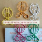 Lot of 200pcs Paper Clip Scissors Shaped / Bookmark office B2