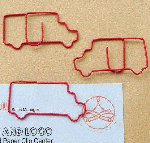 Lot of 200pcs Paper Clip Truck Shaped / Bookmark office B2