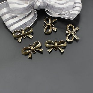 Lot of 300pcs Bow 22 x 14mm toy/jewelry bracelet metal alloy Charm B2