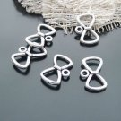 Lot of 500pcs mini 19 x 12mm Bow toy/jewelry bracelet alloy Charm