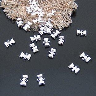 Lot of 500pcs Bow 12 x 8mm toy/jewelry bracelet metal alloy Charm