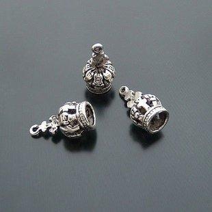 Lot of 100pcs 3D Crown 17 x 8mm toy/jewelry bracelet metal alloy Charm