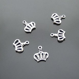 Lot of 1000pcs Crown 14 x 13mm toy/jewelry bracelet metal alloy Charm