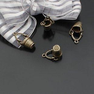 Lot of 200pcs 3D mini Bucket 22 x 11mm toy/jewelry bracelet metal alloy Charm B2