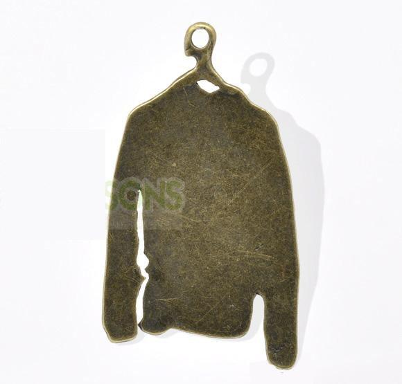 100XDollhouse miniature toy Brass Clothes /jewelry Pendant metal alloy charm 44 x 25mm