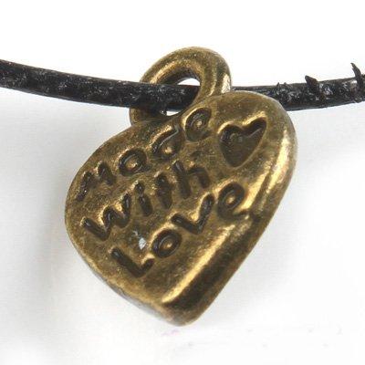 1500pcs Dollhouse Miniature toy Heart jewelry bracelet metal Charm Bead Made with Love CM624