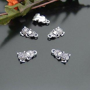 300pcs Frog Toad jewelry bracelet metal Charm Bead  11 X 17mm