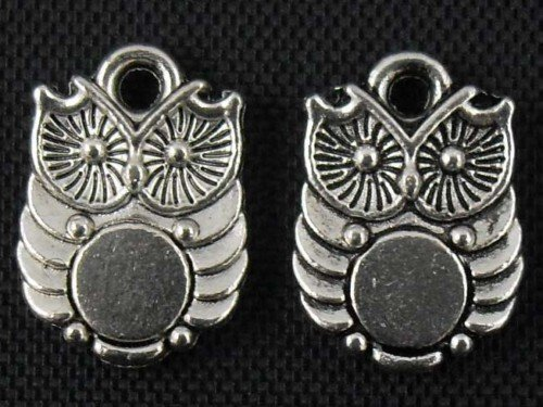 500pcs Owl jewelry bracelet metal Charm Bead  14 X 10mm