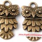500pcs Owl jewelry bracelet metal Charm Bead  20 X 11mm