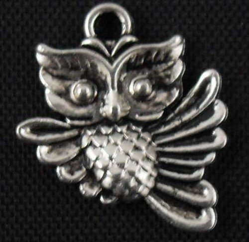 300pcs Owl jewelry bracelet metal Charm Bead  20 X 17mm
