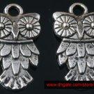 500pcs Silver Owl jewelry bracelet metal Charm Bead  20 X 11mm