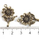 300 XDollhouse Sunflower  /jewelry Pendant metal alloy charm 27 x 18mm