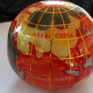 World Globe Global Map Stone Paperweight Red