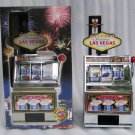 Las Vegas Jackpot Slot Machine Mechanical Bank Metal and Plastic Working